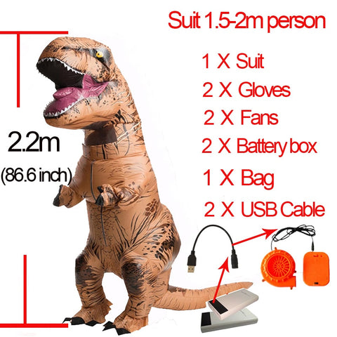 Various Inflatable T Rex Dinosaur Costumes