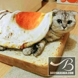 Purrfect Egg Toast Blanket & Pillow