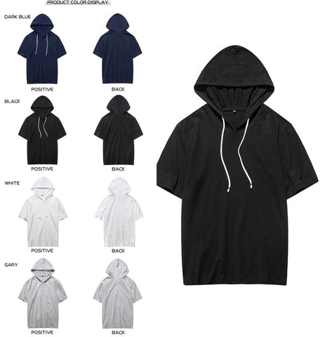 Short Sleeve Hoodies 4 Colors