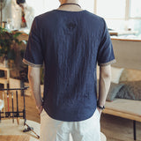 Sleeve Pattern Linen Shirt