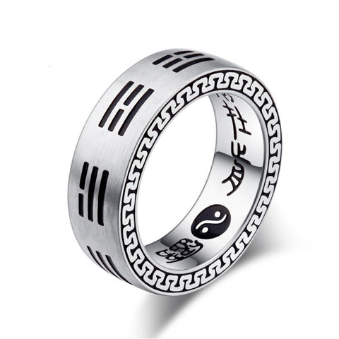 Baguazhang Feng Shui 8 Diagrams I Ging Stainless Steel Ring