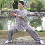 6 Colors Tai Chi Clothing Kung Fu Suit Martial Art Uniform Short Sleeve