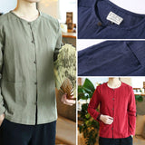 Traditional Linen Button Shirt - 3 Colors, 3 Pockets