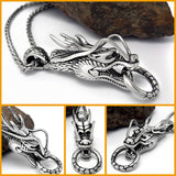 Stainless Steel Dragon Head Pendant