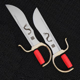 2pcs Dragon Design Bart Cham Dao Butterfly Knives Not Sharpened