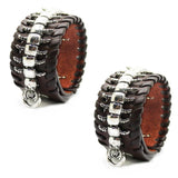 Centipede / Spine Genuine Leather Bracelets