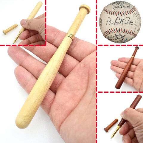 Maple Or Red Wood Refillable Baseball Pens