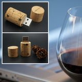 Wooden Cork USB Flash Drive 4GB-64GB