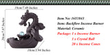 Amazing Ceramic Dragon Backflow Incense Burner & 20Pcs Sandalwood Incense Cones