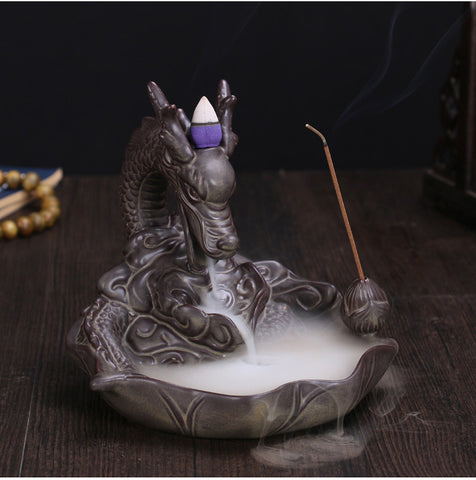 Amazing Ceramic Dragon Backflow Incense Burner