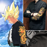 Structure Cloth Jackets With Or Without Dragon Embroidery