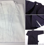 Single Layer Kendo Hakama Kimono 100% Cotton Navy Blue & White