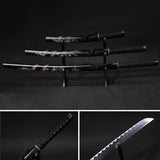 Japanese Black Carbon Steel Katanas Not Sharpened