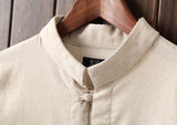 Traditional Button Linen Shirts