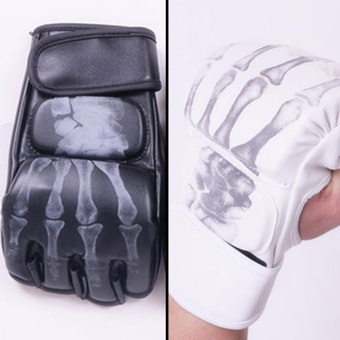 MMA Skeleton Design Gloves