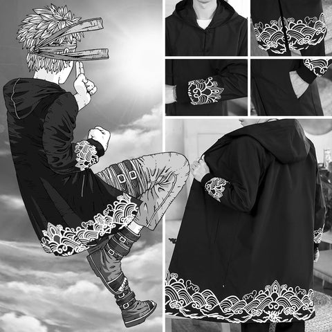 Anime Ninja Style Hooded Windbreaker Coat