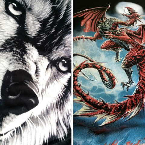 Wolf & Dragon T Shirts Bundle Or Single 100% Cotton