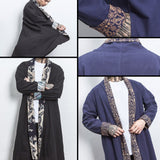 Pattern Linen Long Coats