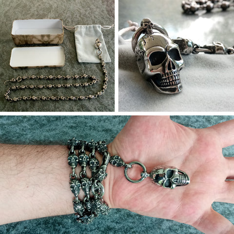 Skull Chain 91cm Stainless Steel