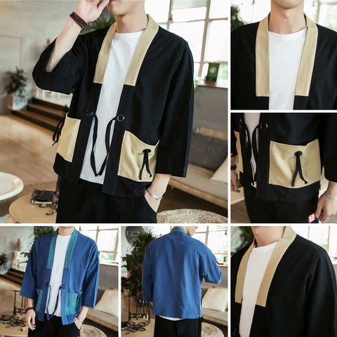 Traditional Patchwork Linen Jackets