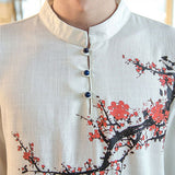 Tree Branch Design Linen Shirts