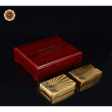24K Gold Foil Cards With Wooden Box