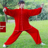 13 Colors Velour Thickened Warm Tai Chi Clothing Kung Fu Suit Martial Art Uniform