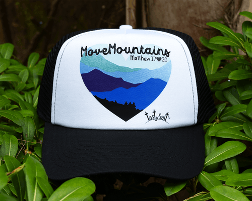 Move Mountains Blues Trucker Hat