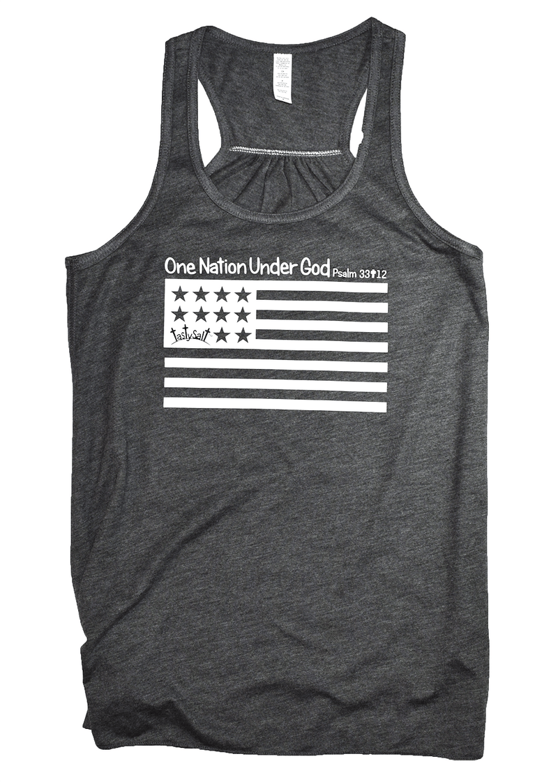 One Nation Under God Flowy Racerback Tank