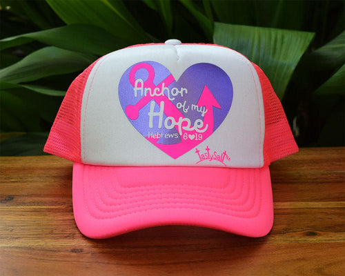 Anchor of my Hope Women's Trucker Hat Pink