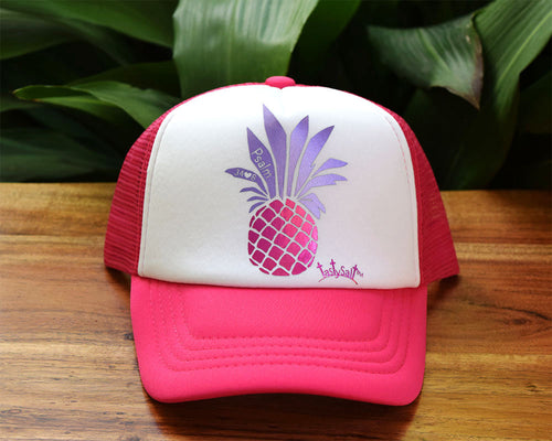 Lord is Sweet Pineapple Girl's Trucker Hat