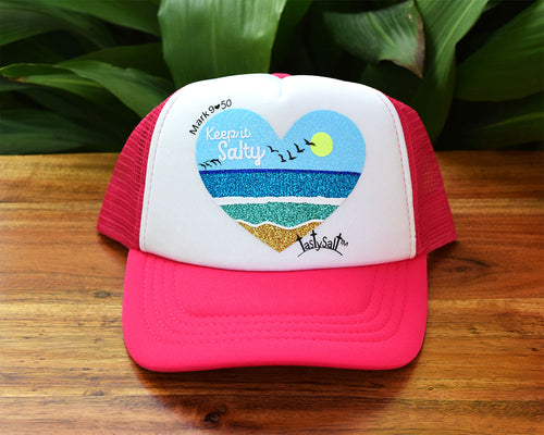 Keep it Salty Beach Girl's Trucker Hat