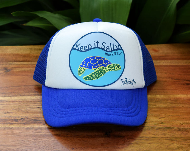 Keep it Salty Sea Turtle Boy's Trucker Hat