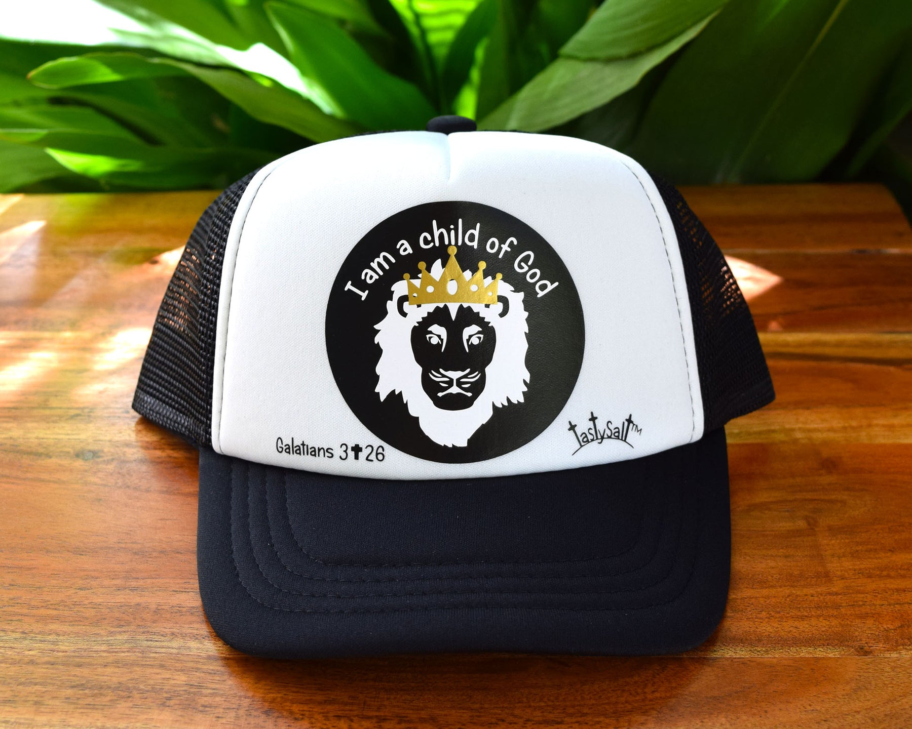543810f8 I am a Child of God Lion Trucker Hat
