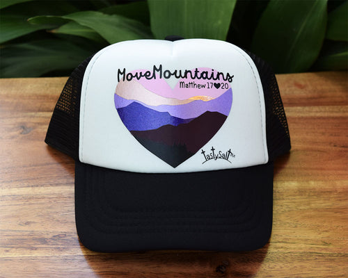 Move Mountains Purple Sunset Girl's Trucker Hat