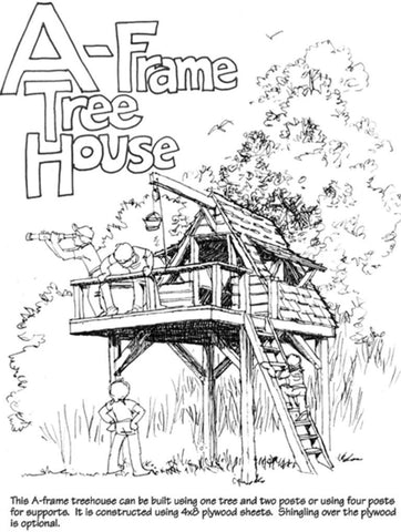 A-Frame Outdoor Life Tree House