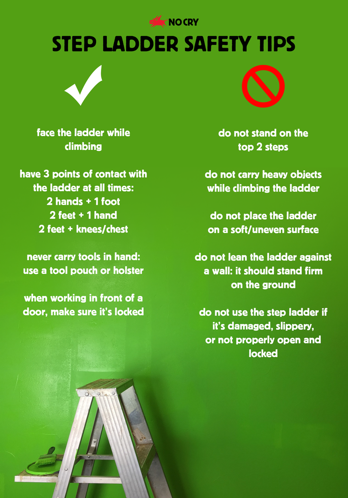 Step Ladder Safety Tips Nocry