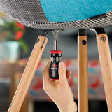 NoCry 14-in-1 Stubby Ratcheting Screwdriver for assembling and fixing chairs and furniture