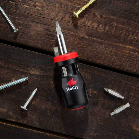 NoCry 14-in-1 Stubby Ratcheting Screwdriver for fix-ups all around the house