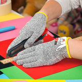 NoCry Cut Resistant Gloves For Kids for school projects and cutting paper