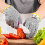 NoCry Cut Resistant Gloves For Kids cutting slicing tomatoes