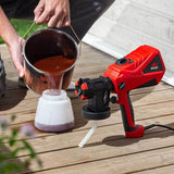 NoCry Electric Paint Sprayer for staining outside decks