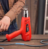 NoCy Electric Heat Gun Kit with flat back stand design