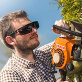 NoCry Over-Glasses Safety Sunglasses for trimming hedge and grass