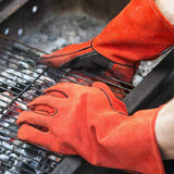 NoCry Welding & BBQ Gloves for cleaning  barbecues, wood-stoves and fireplaces