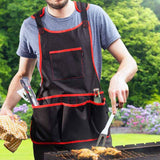 NoCry Work Apron With 16 Tool Pockets for grilling and BBQ