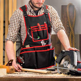 NoCry Work Apron With 26 Tool Pockets for carpenters and woodworking