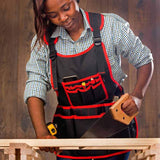 NoCry Work Apron With 26 Tool Pockets for carpentry and home improvements