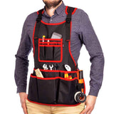 NoCry Work Apron With 26 Tool Pockets with Tape Measure Holder and D Ring Loop