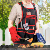 NoCry Work Apron With 26 Tool Pockets for grilling and BBQ